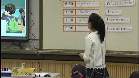 人教版英语四下第二单元《Let'stalk Mike's morning》课堂教学视频实录-洪黎明
