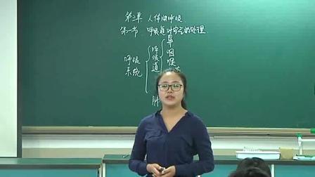 人教2011课标版生物七下-4.3.1《呼吸道对空气的处理》教学视频实录-虞那