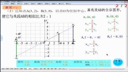 人教2011课标版数学九下-27.3《位似》教学视频实录-张福梅