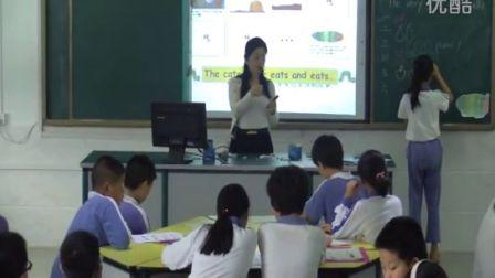 《The Very Hungry Caterpillar》教学实录(绘本阅读英语一年级,罗芳小学:曾英)