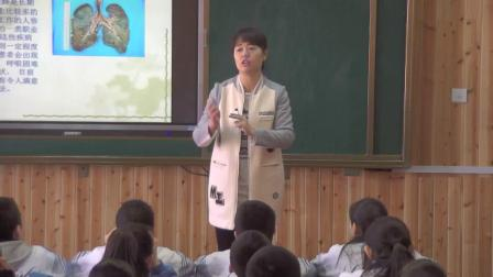 人教2011课标版生物七下-4.3.1《呼吸道对空气的处理》教学视频实录-卢倩