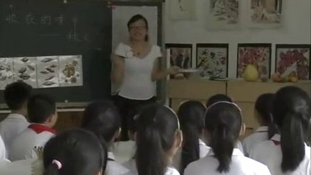 浙美版小学美术五年级《收获的季节》优质课教学视频