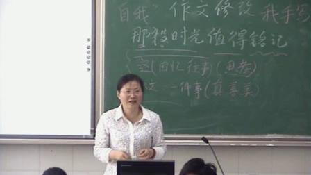 苏教版(2016)语文九年级《作文修改》课堂实录-严丽