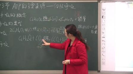 《ATP的主要来源——细胞呼吸》高一生物-郑州十九中:李艳萍