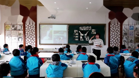 浙美版美术二下第18课《潺潺的小溪水》课堂教学视频实录-胡欣娜