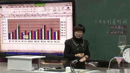 教科版小学科学五上《用水测量时间-自选》课堂教学视频实录-王燕峰