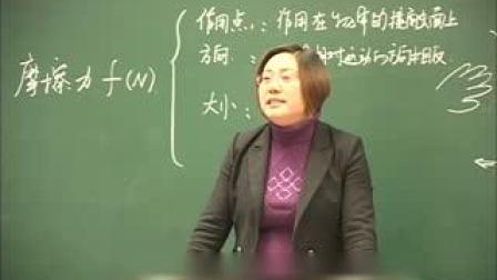 人教2011课标版物理 八下-8.3《摩擦力》教学视频实录-李华