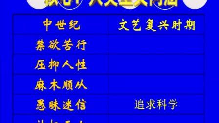 《文艺复兴和宗教改革》人教版高二历史-郑州市第五十三中学-裴进装