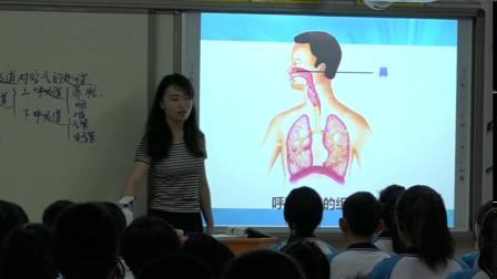 人教2011课标版生物七下-4.3.1《呼吸道对空气的处理》教学视频实录-李丽