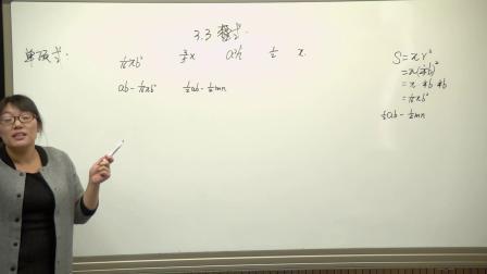 北师大版数学七上-3.3《整式》课堂教学视频实录-李丽