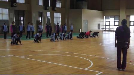 人教版体育八年级《跑:反应性练习》课堂教学视频实录-余丽丽