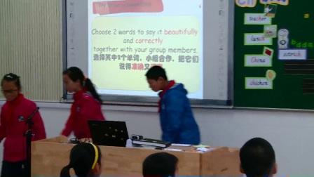 人教版英语五下第三单元A《Let's Spell》课堂教学视频实录-朱惠伟